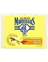 Le Petit Marseillais Set de 4 Savons Extra Doux Vanille 100 g - Lot de 5