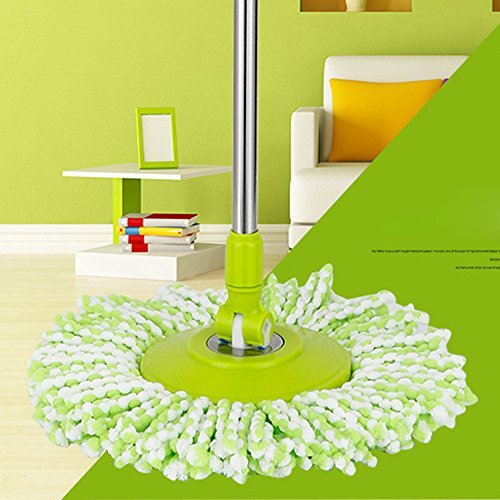 ch drehbar, Easy Magic Microfaser-Spinning-Bodenwischkopf, grün ()