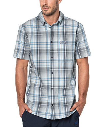 Jack Wolfskin Herren HOT Chili Hemd, Dark Iron Checks, S
