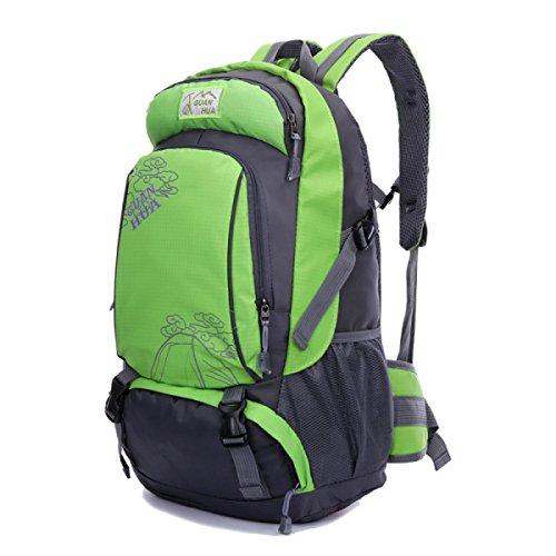 BULAGE Tasche Gymnasiasten Im Freien Schultern Frau Zum Mann Sport Schultaschen Computer Mit Hoher Kapazität Tourismus Rucksäcke Green