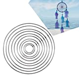 Metall Ring Reifen, sundlight 100DIY handgefertigt Dream Catcher Circular Net für Wand-Auto hängen Decor Craft Geschenk, unterschiedlichen Größe