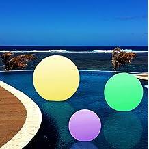 40cm Lámpara de Pie LED Exterior Jardín - Esfera Luminosa Flotante IP67 para Piscina Estanque - Luz RGB Multicolor de PK Green