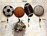 WJS Kleiderhaken kreative Fußball Schmiedeeisen Haken Kinder Schlafzimmer Haken Mehrzweckhaken