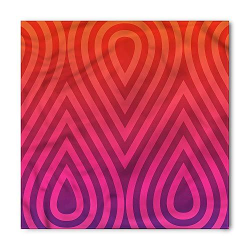 ffafd51b38f4 Modern Bandana, Swirls Oriental Wave Heart, Unisex Head and Neck Tie,23.6 *  23.6inch
