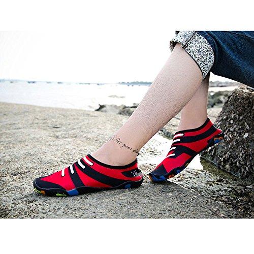 hibote Unisex Soft Barfuß Wasser Skin Aqua Schuhe Breathable Schwimmschuhe Aqua Socks Schnell trocknend TMJA-1