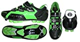 Deko Sports, scarpe ciclismo mountain bike, modello New Cliff, colore nero/verde fluorescente (45)