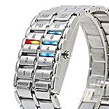 HWCOO LED-Uhren, Lava-Tisch der zweiten Generation binäre Lavatabelle binäre Lava LED-Uhr (Color : 2)