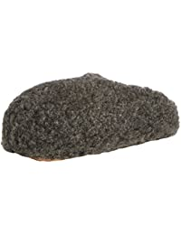 Woolsies - Zapatillas de estar por casa de lana para hombre gris gris