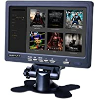 Quimat 7 inch Monitor HD TFT-LCD 1024*600 2AV/VGA/HDMI con Altavoz Incorporado / Conector del Auricular para TV Box CCTV Computadora DVR / Cámara Marcha Atrás para Coche