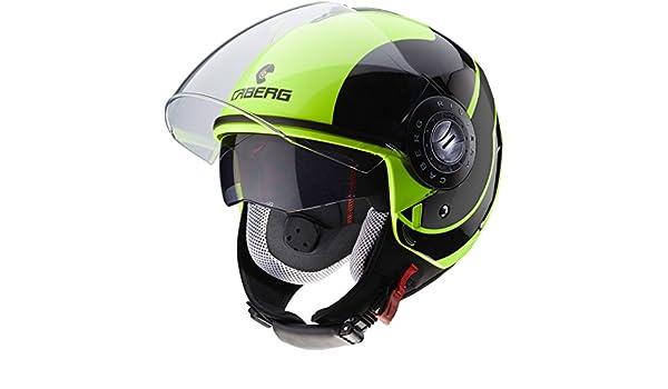 Caberg Riviera Sway Flo urlo casco nero moto Taglia M