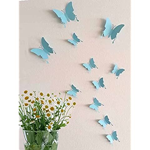 Adesivo Wall Sticker 3D farfalle parete tatuaggio 1-36 pezzi e