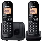 Panasonic KX-TGC212EB Digital Cordless Phone with LCD Display (Two Handset Pack) - Black
