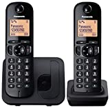 Panasonic KX-TGC212EB Digital Cordless Phone with 2 Handsets - Black
