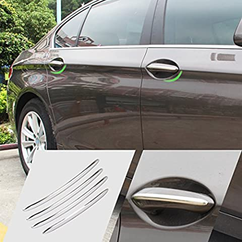 beler 4Pcs Car Exterior Accessories Door Handle Trim Cover