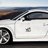 Adesivi Auto In 3d Funny Crazy Cow Decal Car Racing Turbo Window Sticker Outdoor Car Sticker For Car Laptop Window Sticker