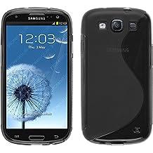 Funda de silicona para Samsung Galaxy S3 Neo - S-Style gris - Cover PhoneNatic Cubierta + protector de