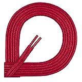Di Ficchiano Lacets ciré ronds premium � 2�3mm, longueur 45�120cm, indéchirable 100 cm Rot