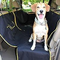 TierWell Premium Autoschondecke für Hunde - Schützt Rücksitz vor Schmutz und Haaren - Teilbar - Waschbar - Geruchsneutral- mit Schlitz für Sicherheitsgurt