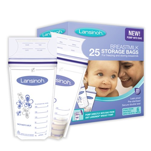 Lansinoh Sacs De Conservation Pour Lait Maternel Accessoire Repas - Paquet De 25