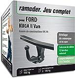 Rameder Attelage démontable avec Outil pour Ford KUGA II Van + Faisceau 13 Broches...