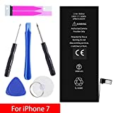 iPhone 7 Battery Replacement Kit, Complete Repair Tools Kit & Adhesive, High Capacity(1960mAh) Brand New Battery 0 Cycle - [12-Month Warranty]