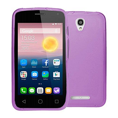 TBOC® Lila Gel TPU Hülle für Alcatel One Touch Pixi First - Pixi 1st (4.0 Zoll) Ultradünn Flexibel Silikonhülle