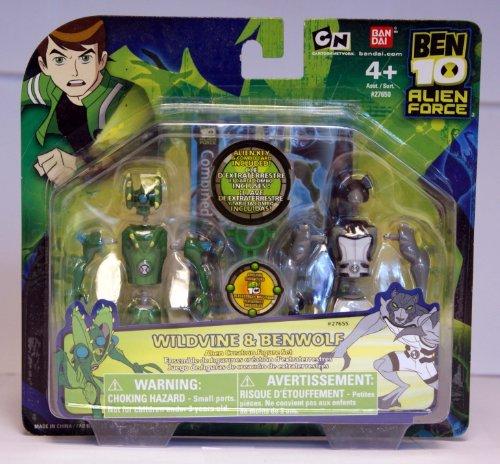 Ben 10 - Alien Force - Alien Creation Chamber Mini-Figuren - 2Pack - Wildvine & Benwolf