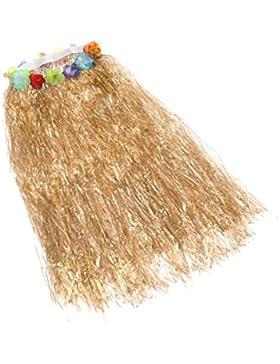BESTOYARD Falda Hawaiana de la Danza de la Hierba de 80cm los Adultos para la Decoración del Partido de la Playa...