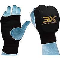Guantes de karate elásticos algodón artes marciales boxeo MMA formación guantes interiores abiertos dedos vendas nudillos acolchada guantes de karate (S/M)