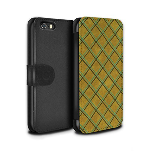 Stuff4 Coque/Etui/Housse Cuir PU Case/Cover pour Apple iPhone 5/5S / Pack (15 pcs) Design / Motif Entrecroisé Collection Jaune