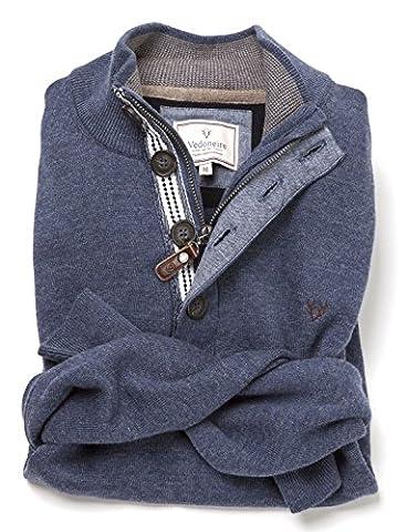 Vedoneire Herren Pullover blau denim-blau Medium Gr. XL (Brust 111,76-116,84 cm), denim-blau