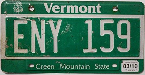 USA Nummernschild VERMONT ~ US Kennzeichen License Plate ~ Blechschild