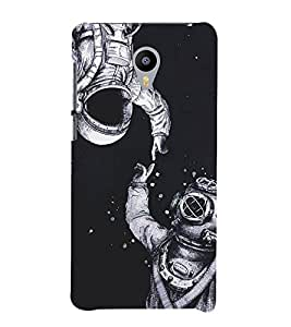 Fiobs Designer Phone Back Case Cover Meizu M2 ( Astronaut Waterman Space Mask Space Man )