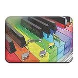 Vercxy Rainbow Musik Piano Tastatur Fußmatte Rutschfeste House Garden Gate Teppich Fußmatte Boden Pads