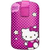 Hello Kitty HKPFU3 Étui universel en cuir pour Smartphone Fuchsia