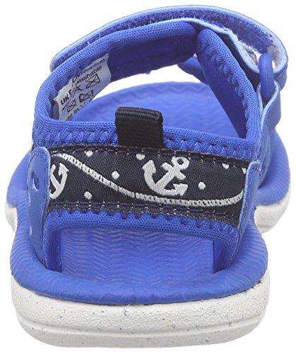 Clarks Kids Piranhaboy Fst, Chaussures Marche Bébé Garçon Bleu (Navy Synthetic)