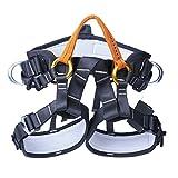 Verstellbar Klettern Sicherheitsgurt Mehrzweck-Outdoor Half Body Harness Outdoor Ausrüstung Klettern Baum Trimmen Arbeit Höhenbetrieb Sicherer Sicherheitsgurt Halbkörper Harness (Orange)