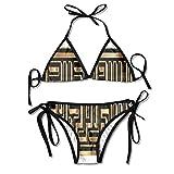 nuohaoshangmao Allah, Holy, Creator Padded Top Bottom Bikini Swiming Suit Two Piece Suits