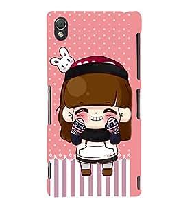 Angelic Girl Design 3D Hard Polycarbonate Designer Back Case Cover for Sony Xperia Z3 :: Sony Xperia Z3 Dual :: Sony Xperia Z3 D6633