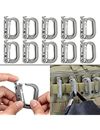 Boosteady 10 Pack Multipurpose D-Ring Grimloc Locking for Molle Webbing  with Zippered Pouch by d4c6aaeee8c
