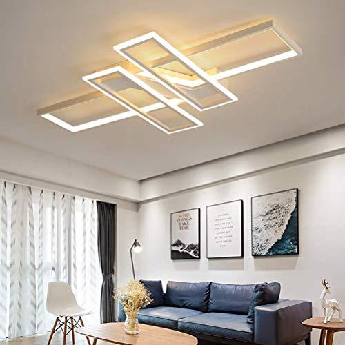 LED Deckenleuchte 68W Dimmbar Wohnzimmerlampe mit Fernbedienung Acryl-Schirm Esszimmerlampe Decke Pendelleuchte Modern Oval Design Esstischlampen Schlafzimmerlampe Badlampe Flur Chic Dekor Deckenlampe