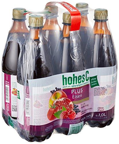 Hohes C Plus Eisen - 100 Prozent Saft, 6er Pack (6 x 1 l) (Brausetabletten Trinken)