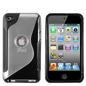 mumbi Power Grip TPU Silikon Schutzhülle für Apple iPod Touch schwarz