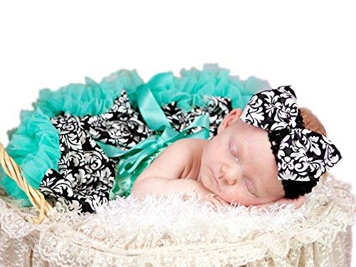 (Aqua Blue Damask Flower Baby Skirt Tutu Dress Girl Clothing 3-12m (Blau))