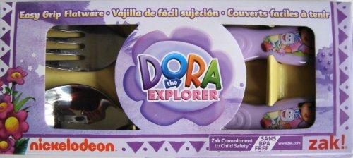dora-the-explorer-easy-grip-flatware-set-spoon-fork