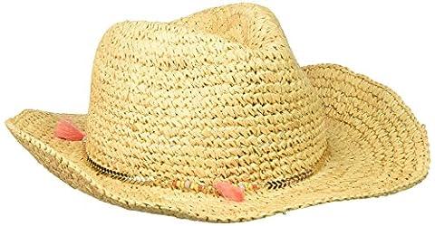 Scala Women's Croc Raffia Hat with Tassle, Natural, One Size