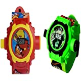 Projector Watchs For Kids Combo Pack Of 2 Clear Projection And Durablility