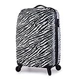 PARTYPRINCE Reisekoffer Hartschale Trolley Koffer in Zebra Graph handgepäck - L (24