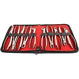 bdeals 10pcs Dental Kit de extracción de pinzas con bolsa de terciopelo