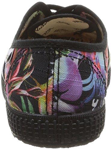 Victoria Ingles Estamp Flores, Baskets mode femme Multicolore (Negro)